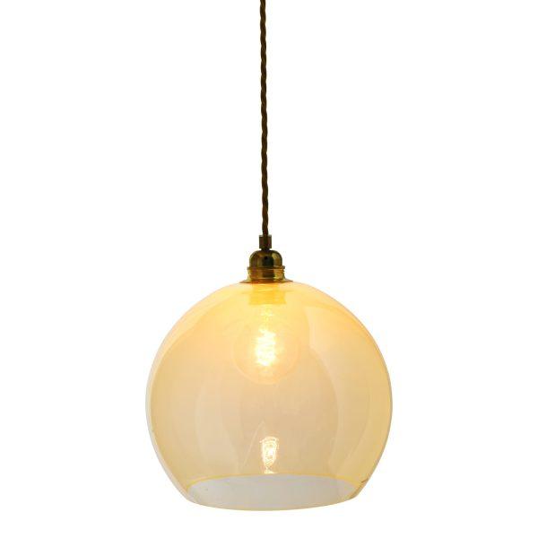 Rowan pendant lamp, alabaster, 28cm