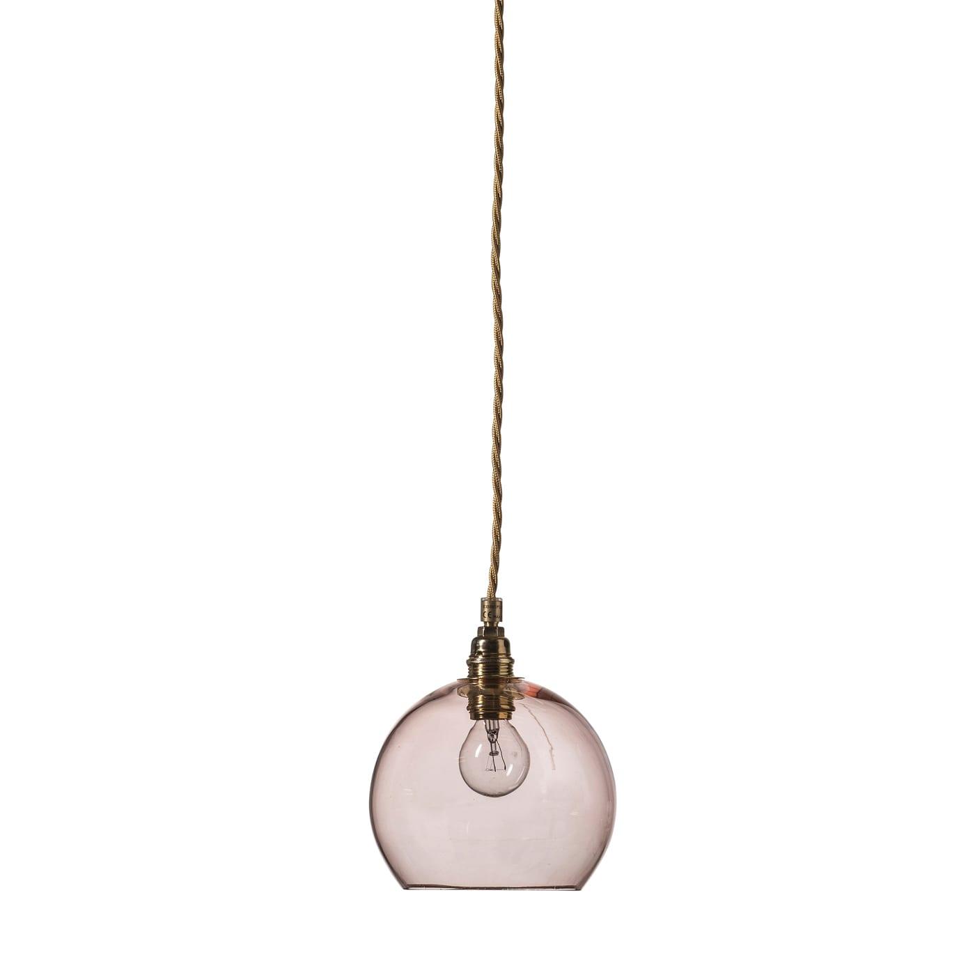 Rowan pendant lamp, bright coral, 15cm
