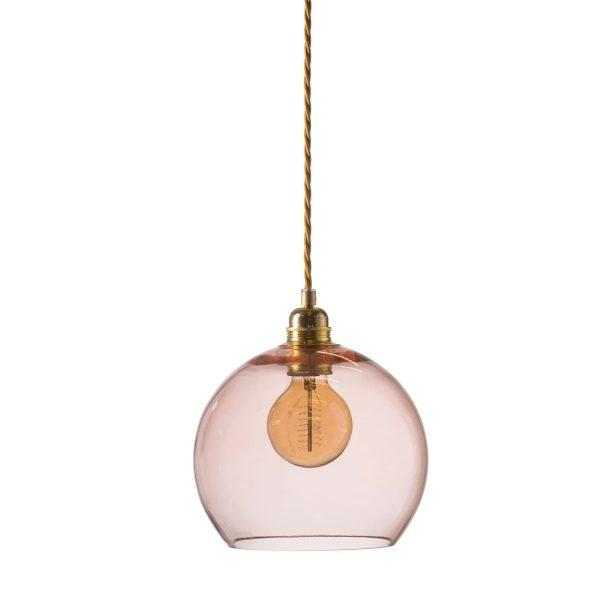 Rowan pendant lamp, bright coral, 22cm 1
