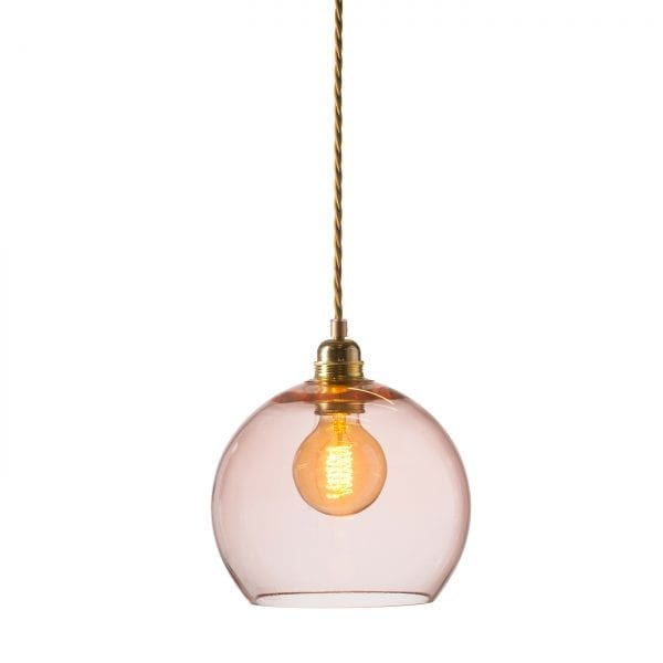 Rowan pendant lamp, bright coral, 22cm