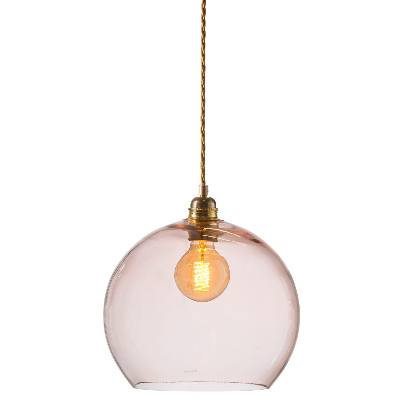 Rowan pendant lamp, bright coral, 28cm 1