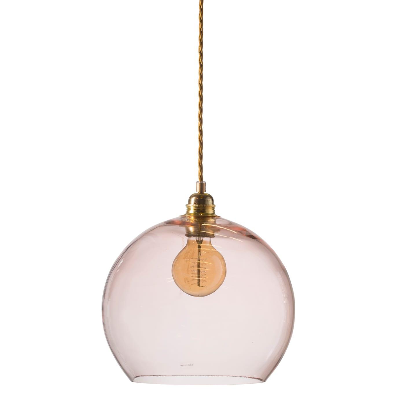 Rowan pendant lamp, bright coral, 28cm