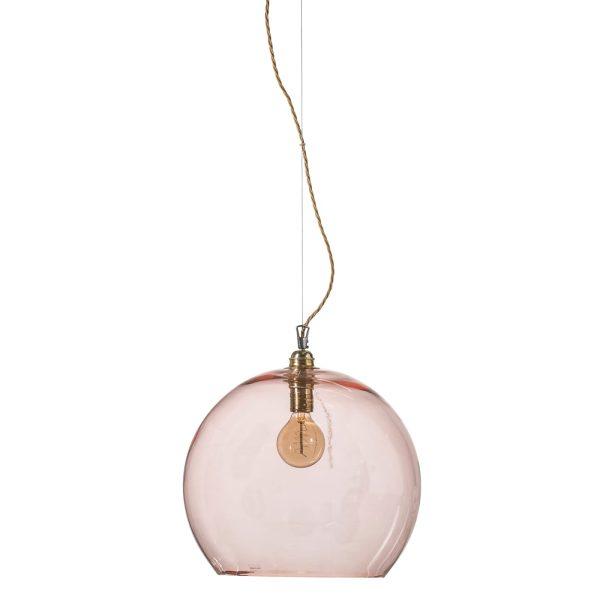 Rowan pendant lamp, bright coral, 39cm