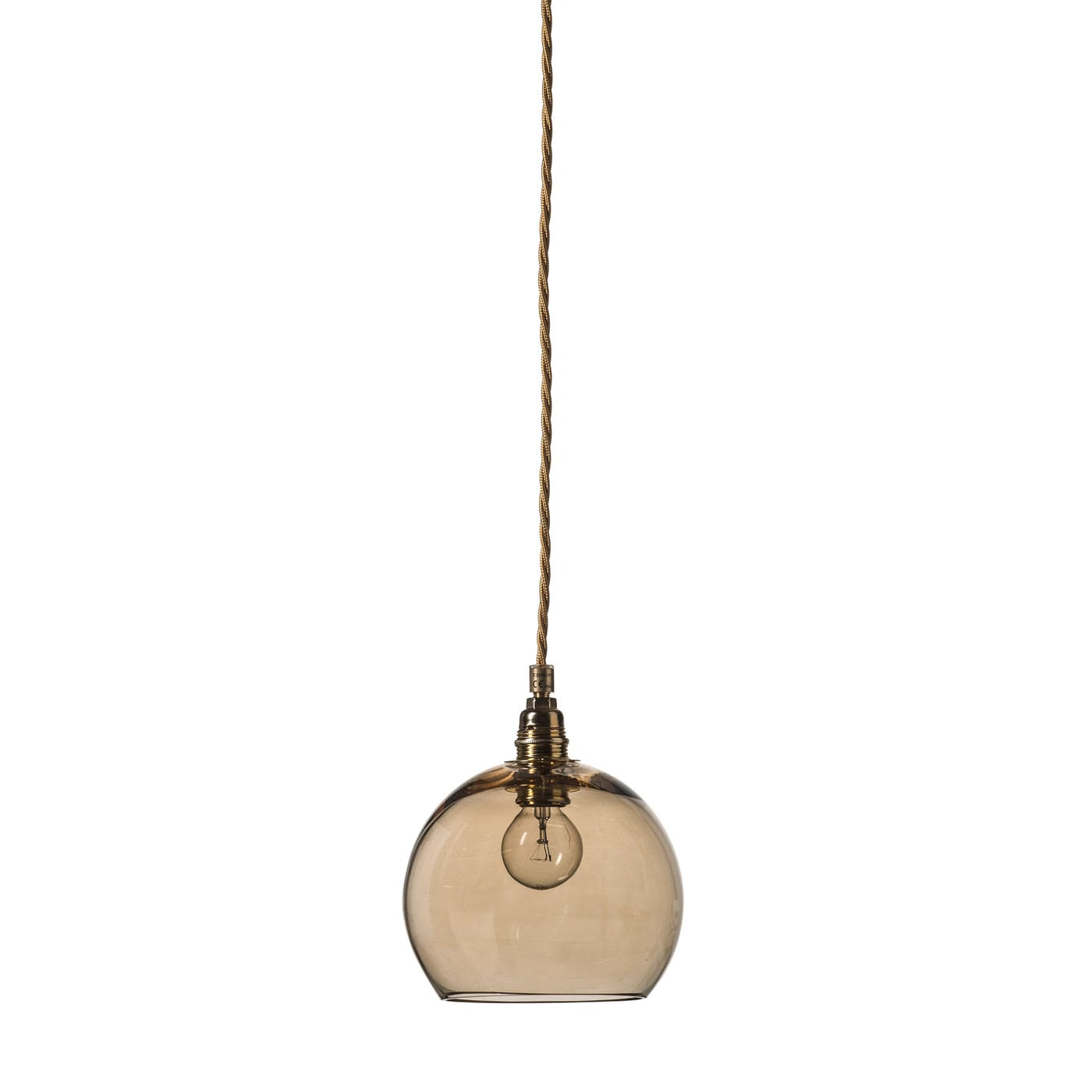 Rowan pendant lamp, chestnut brown, 15cm