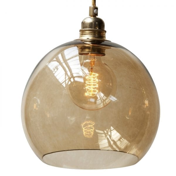 Rowan pendant lamp, chestnut brown, 22cm