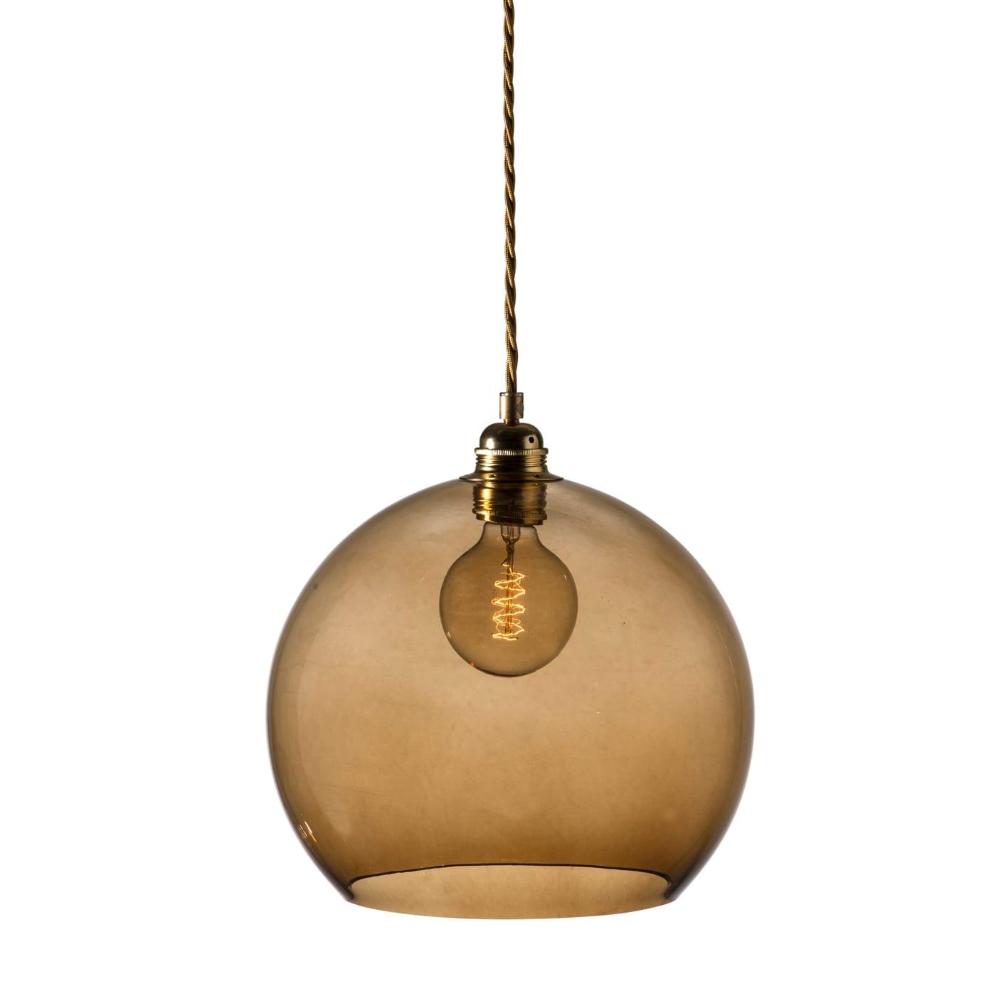 Rowan pendant lamp, chestnut brown, 28cm