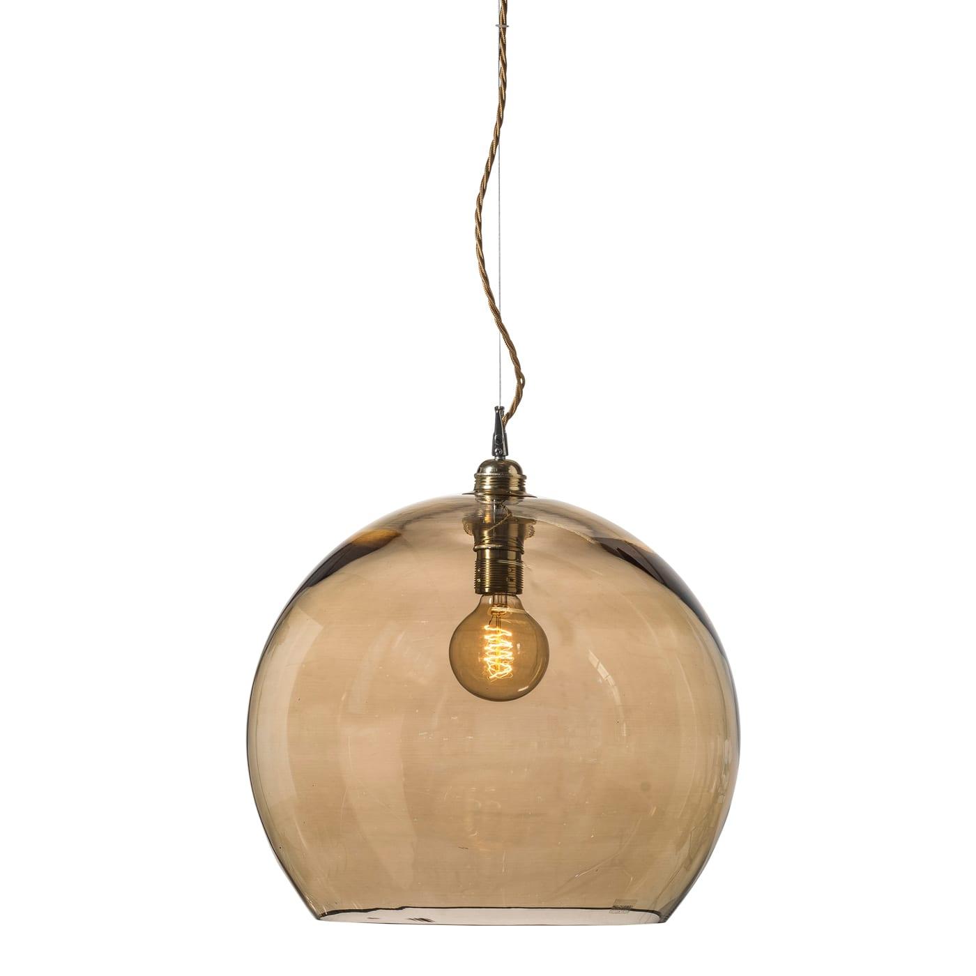Rowan pendant lamp, chestnut brown, 39cm
