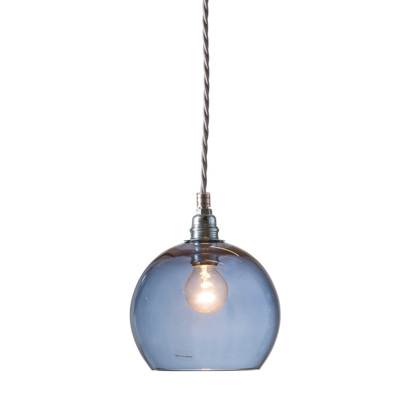 Rowan pendant lamp, deep blue, 15cm 1