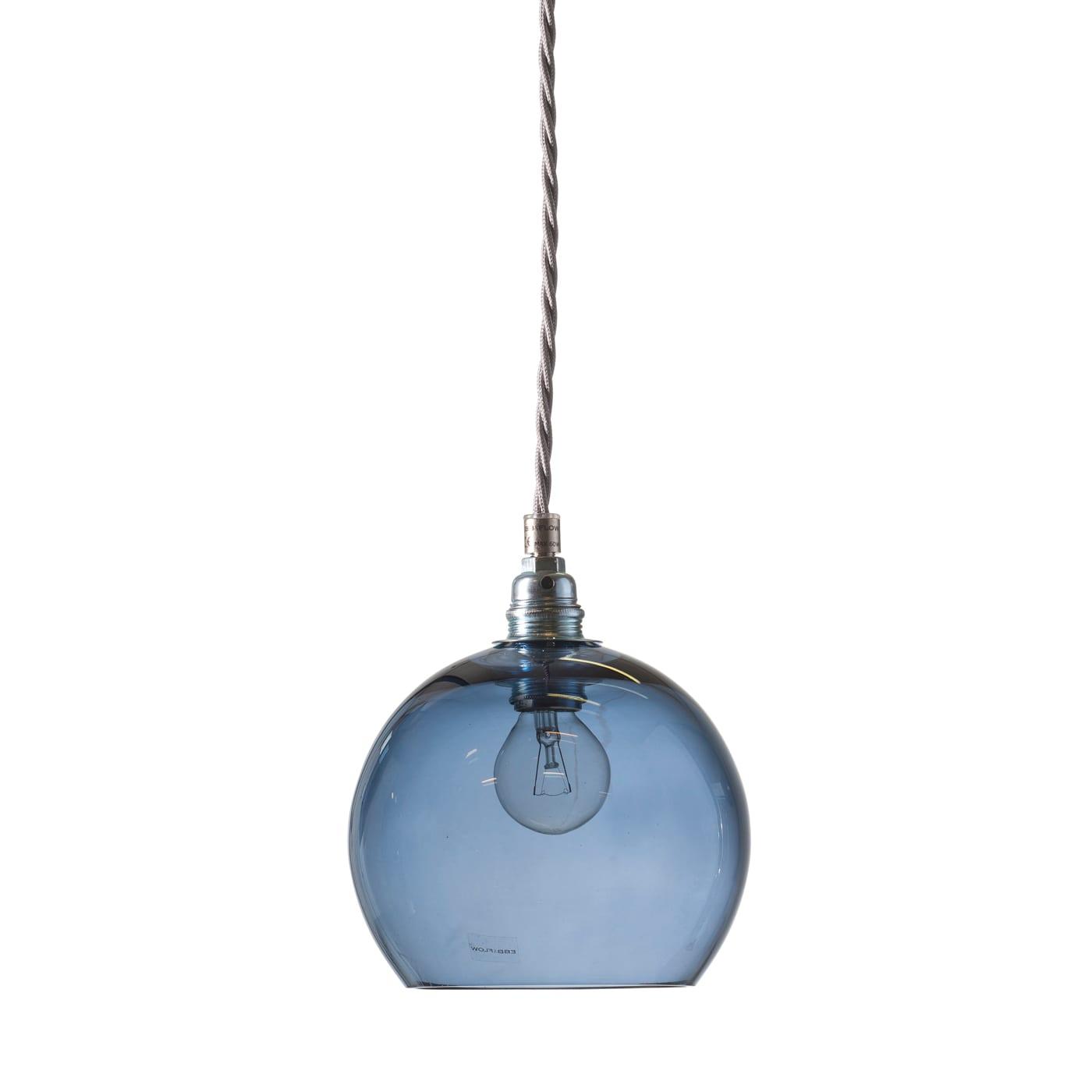 Rowan pendant lamp, deep blue, 15cm