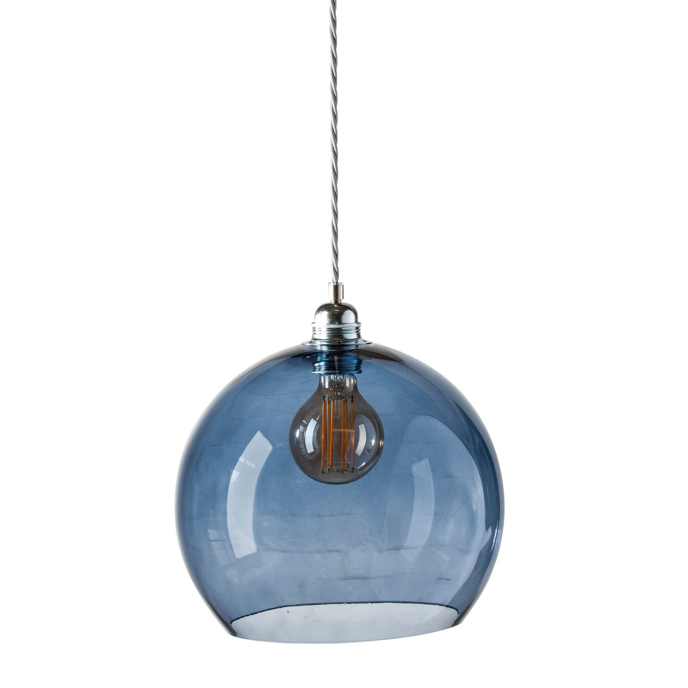 Rowan pendant lamp, deep blue, 28cm 1