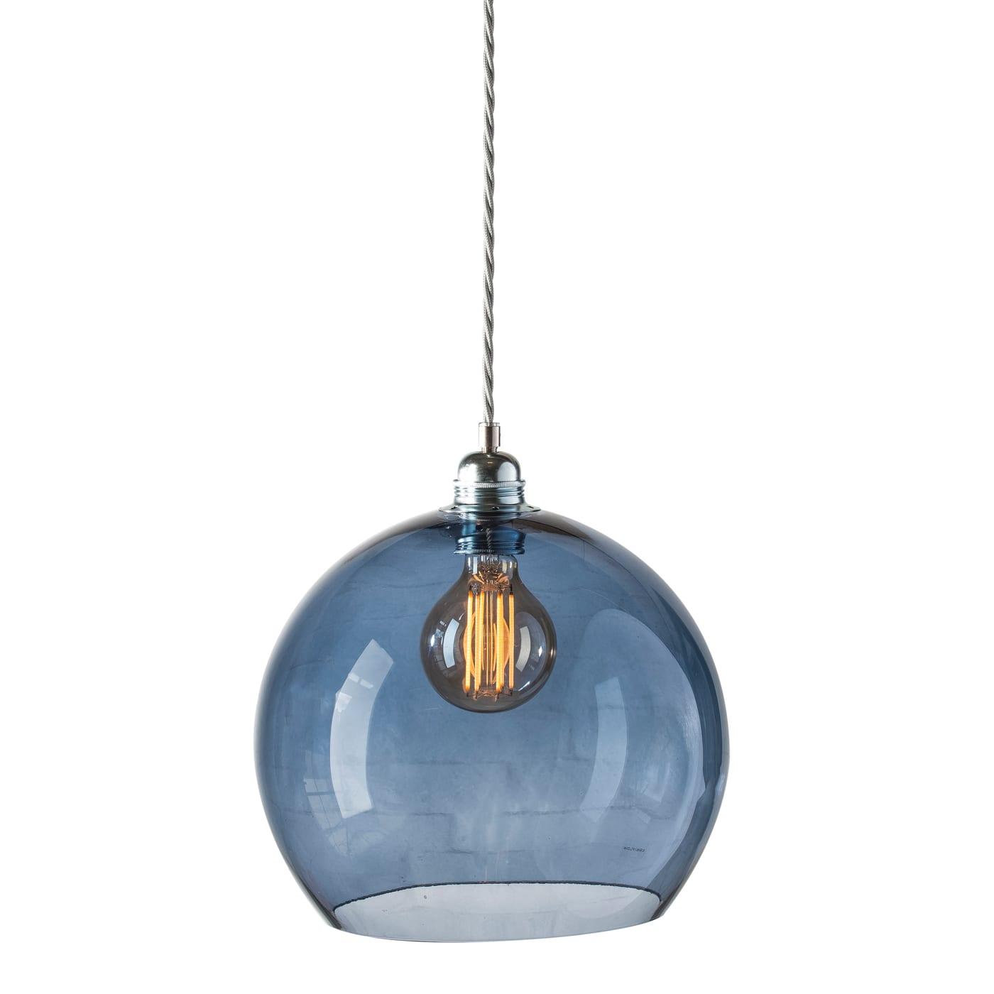 Rowan pendant lamp, deep blue, 28cm
