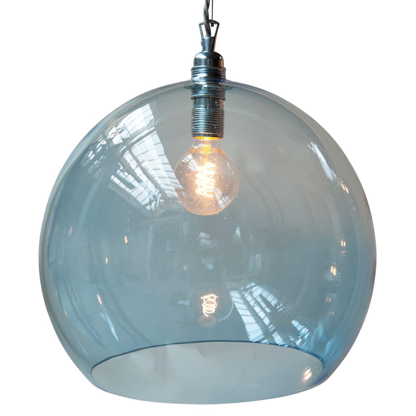 Rowan pendant lamp, deep blue, 39cm