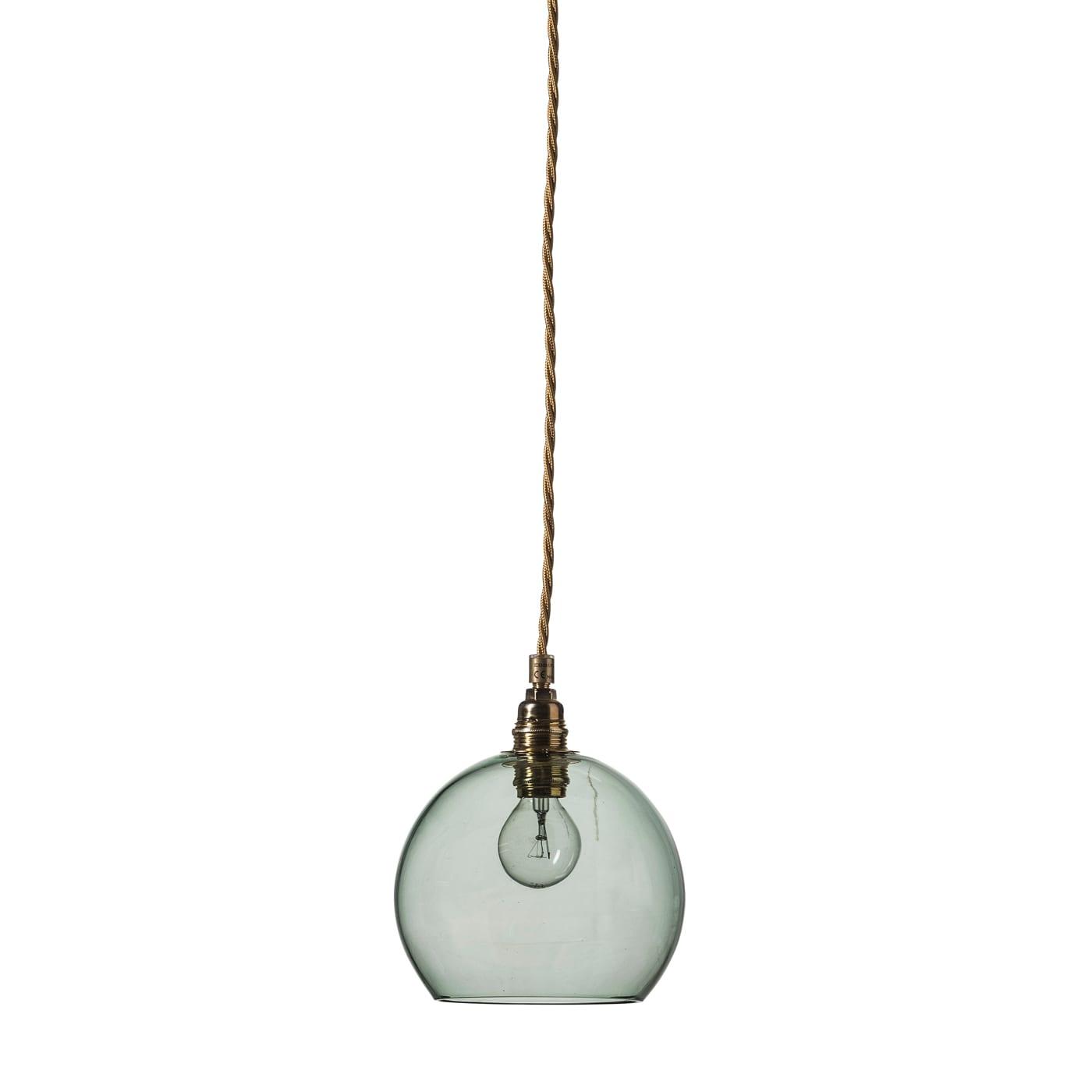 Rowan pendant lamp, forest green, 15cm
