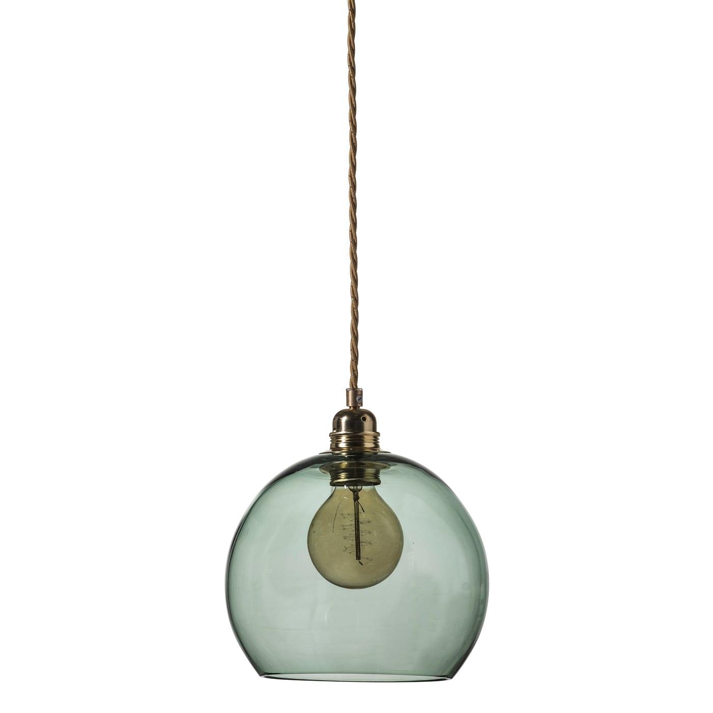 Rowan pendant lamp, forest green, 22cm
