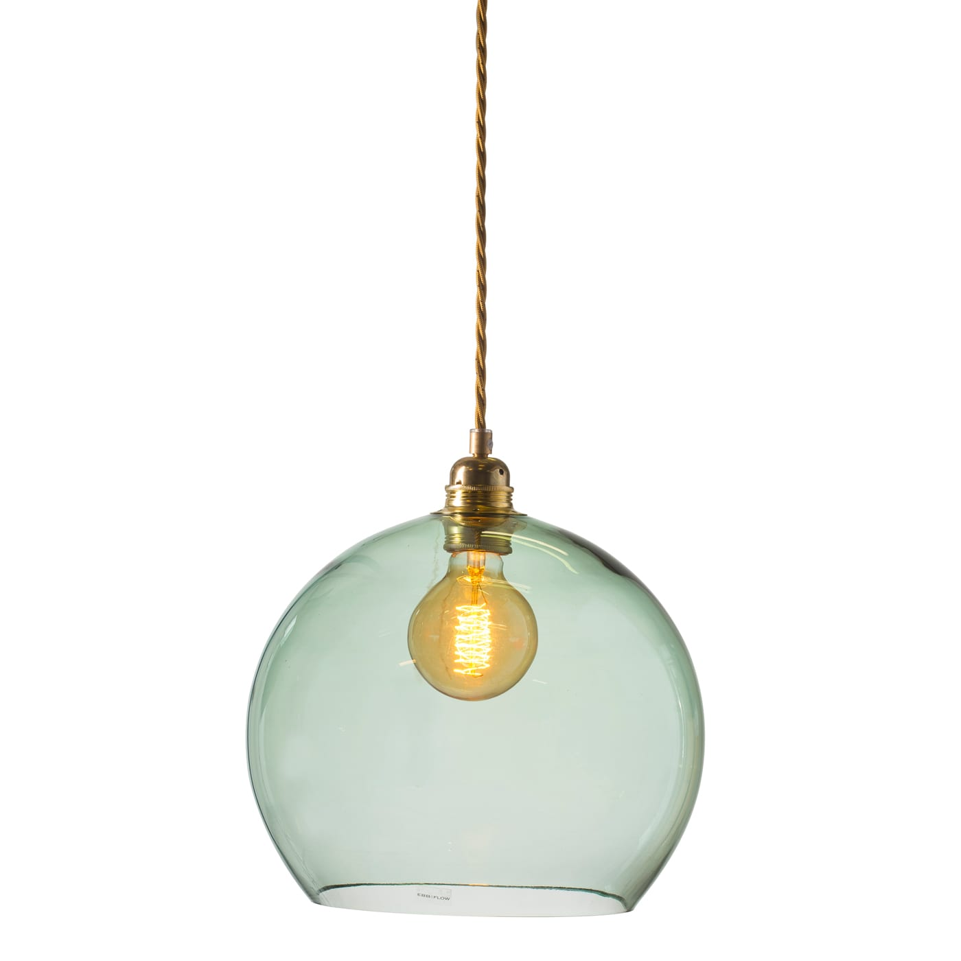 Rowan pendant lamp, forest green, 28cm 1