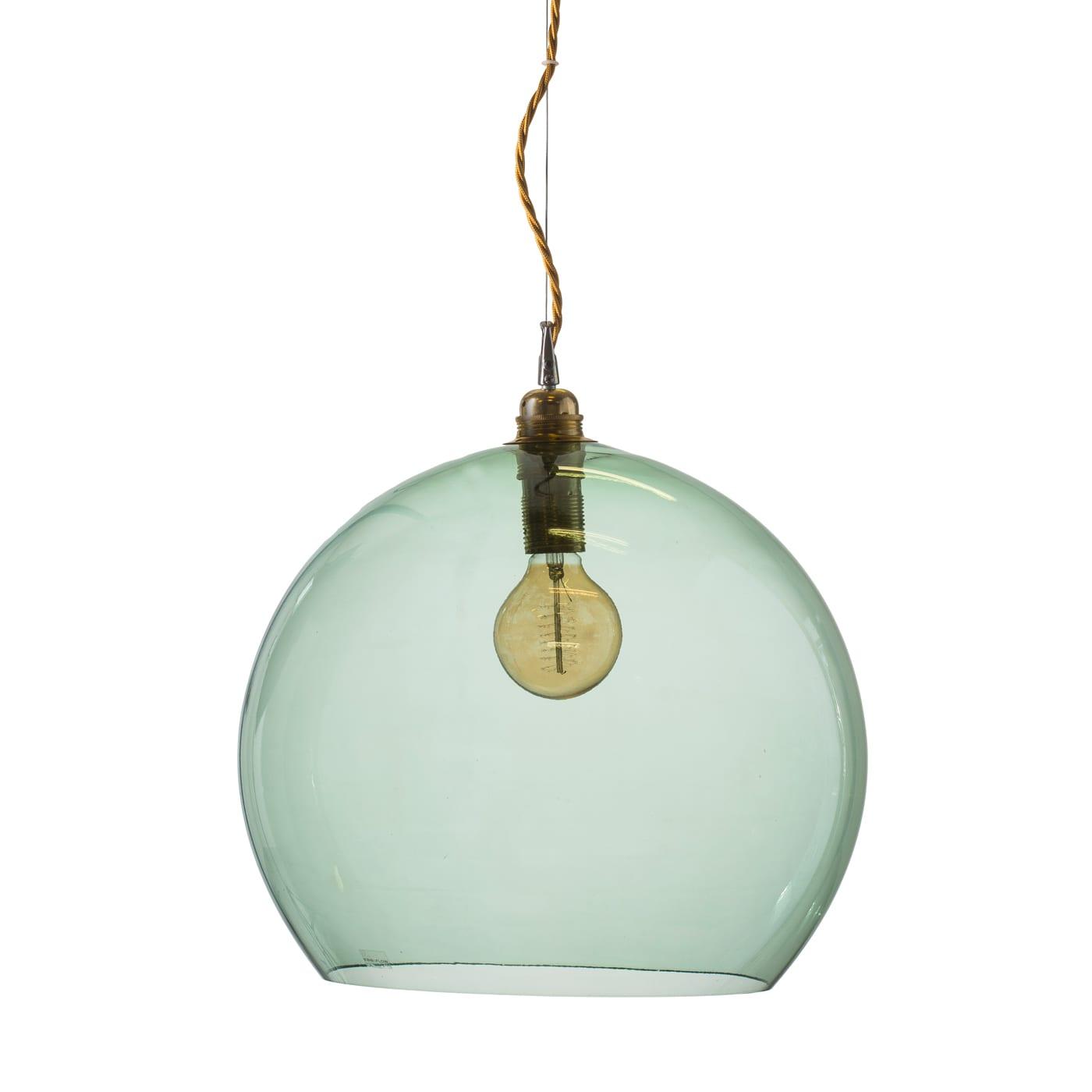 Rowan pendant lamp, forest green, 39cm