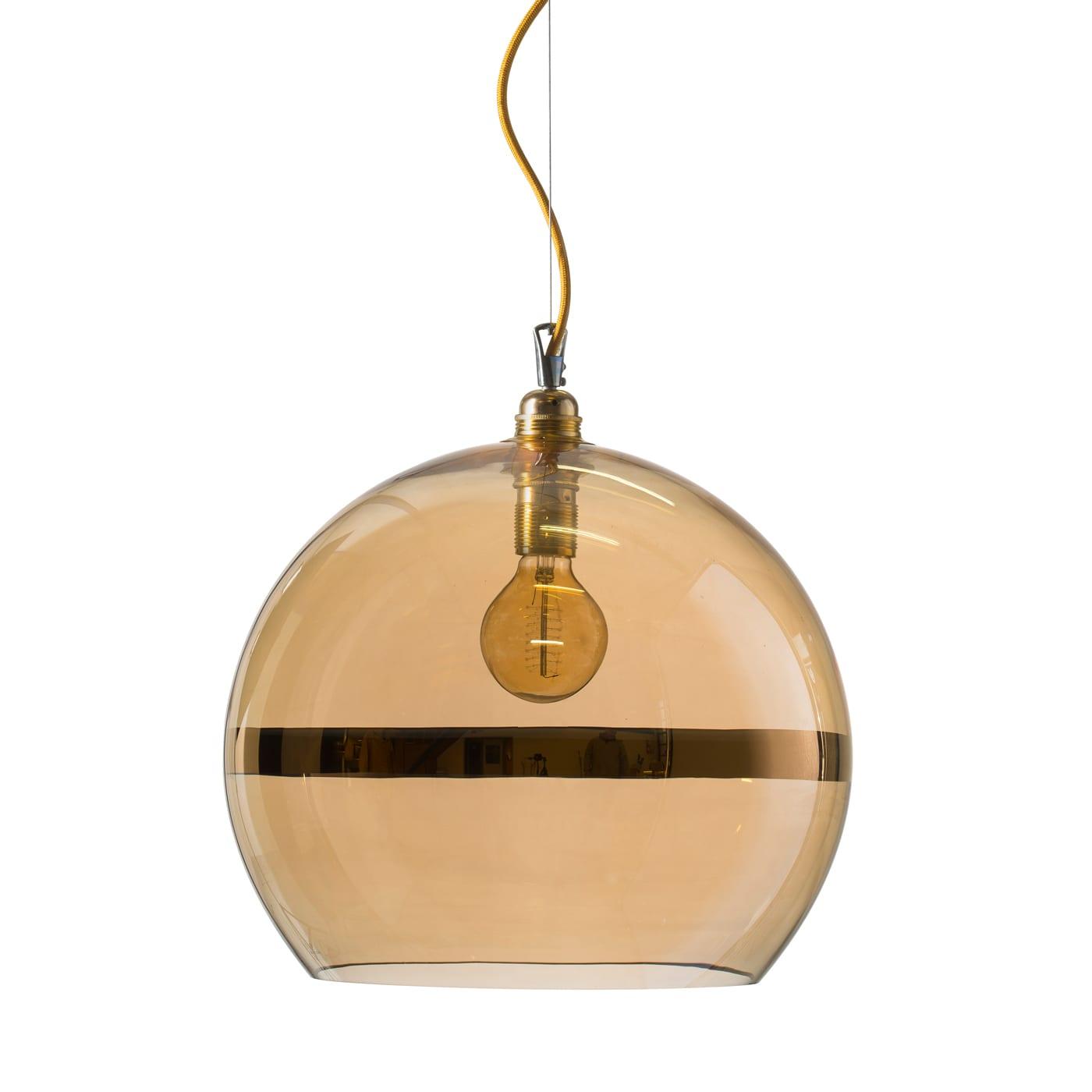 Rowan pendant lamp, gold stripe on gold, 39cm 1