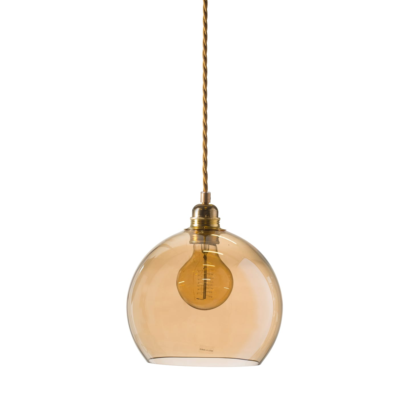 Rowan pendant lamp, golden smoke, 22cm 1