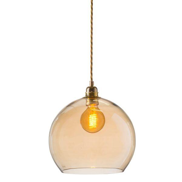 Rowan pendant lamp, golden smoke, 28cm 1