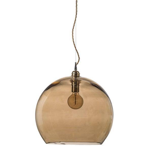 Rowan pendant lamp, golden smoke, 39cm