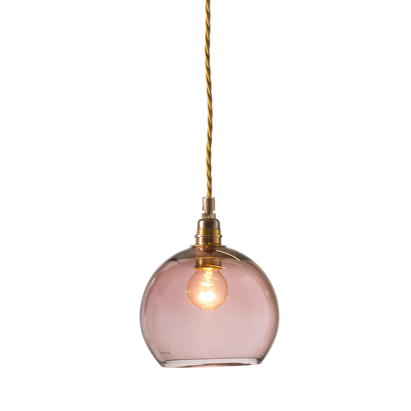 Rowan pendant lamp, obsidian, 15cm