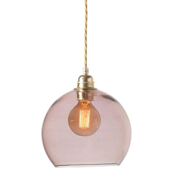 Rowan pendant lamp, obsidian, 22cm
