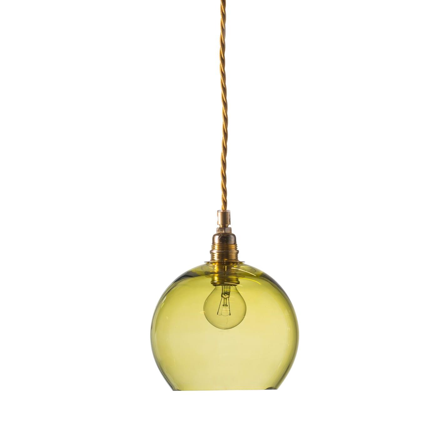 Rowan pendant lamp, olive, 15cm