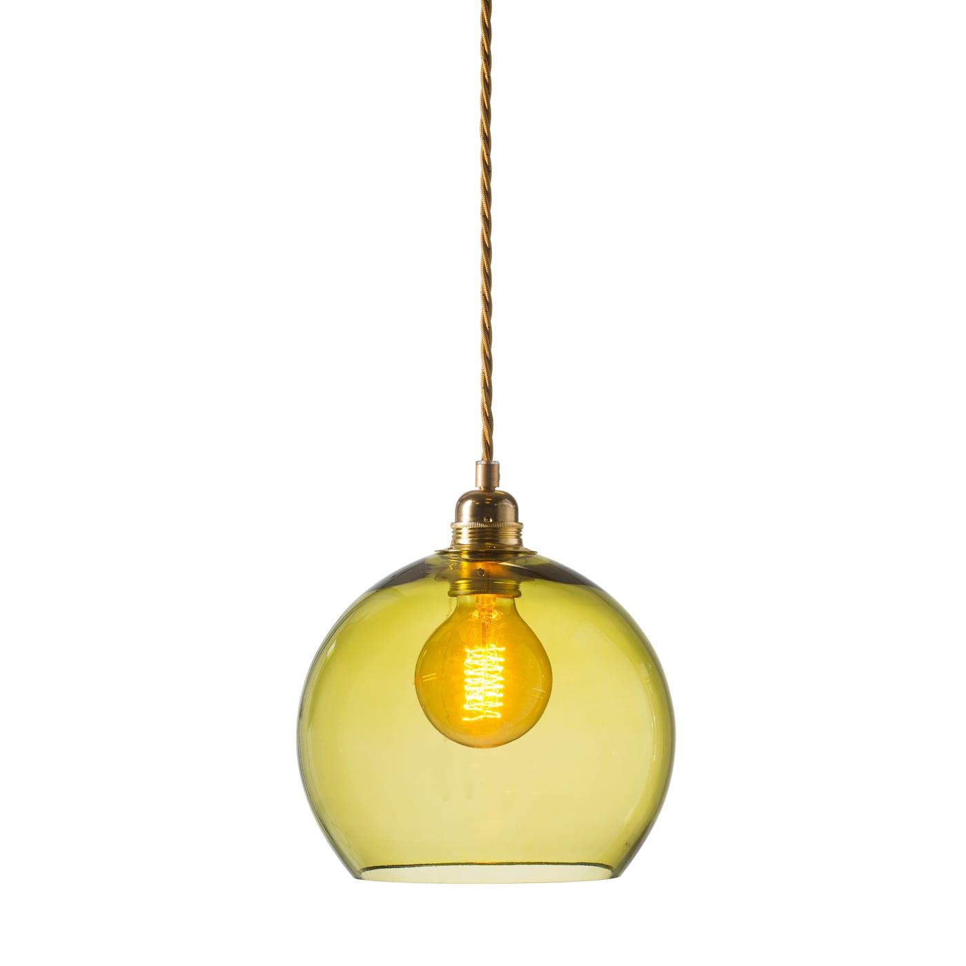 Rowan pendant lamp, olive, 22cm 1