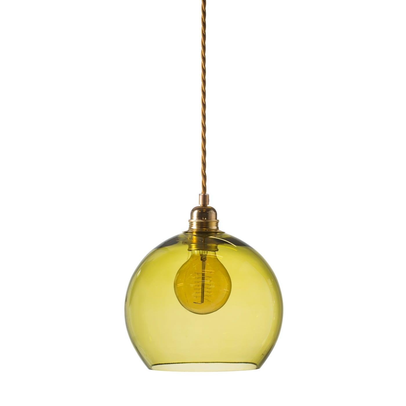 Rowan pendant lamp, olive, 22cm