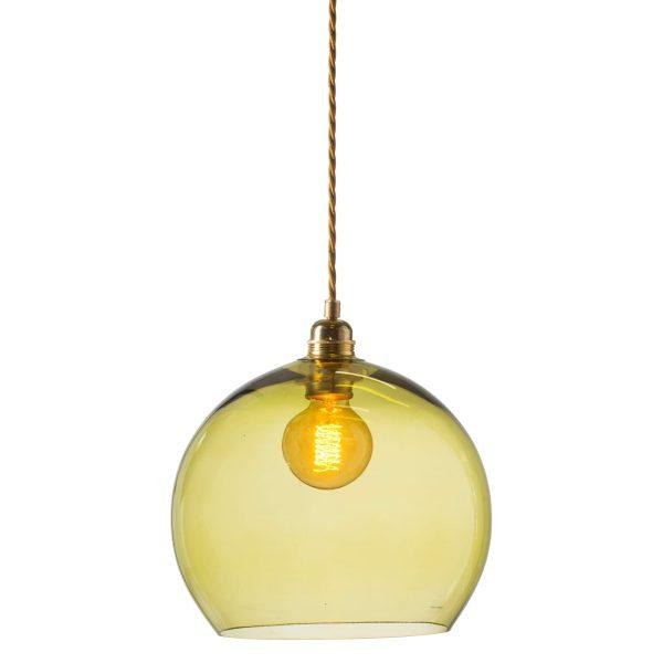 Rowan pendant lamp, olive, 28cm 1