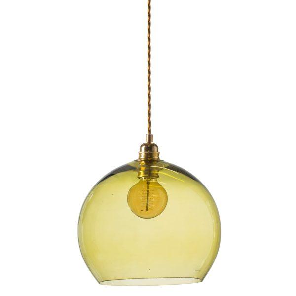 Rowan pendant lamp, olive, 28cm