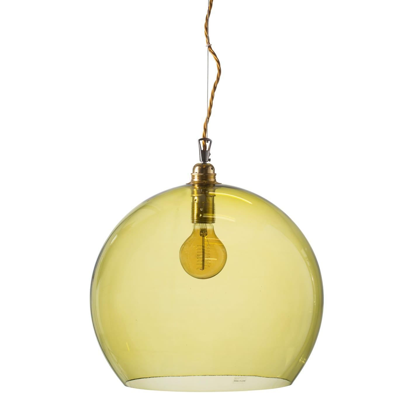 Rowan pendant lamp, olive, 39cm 1