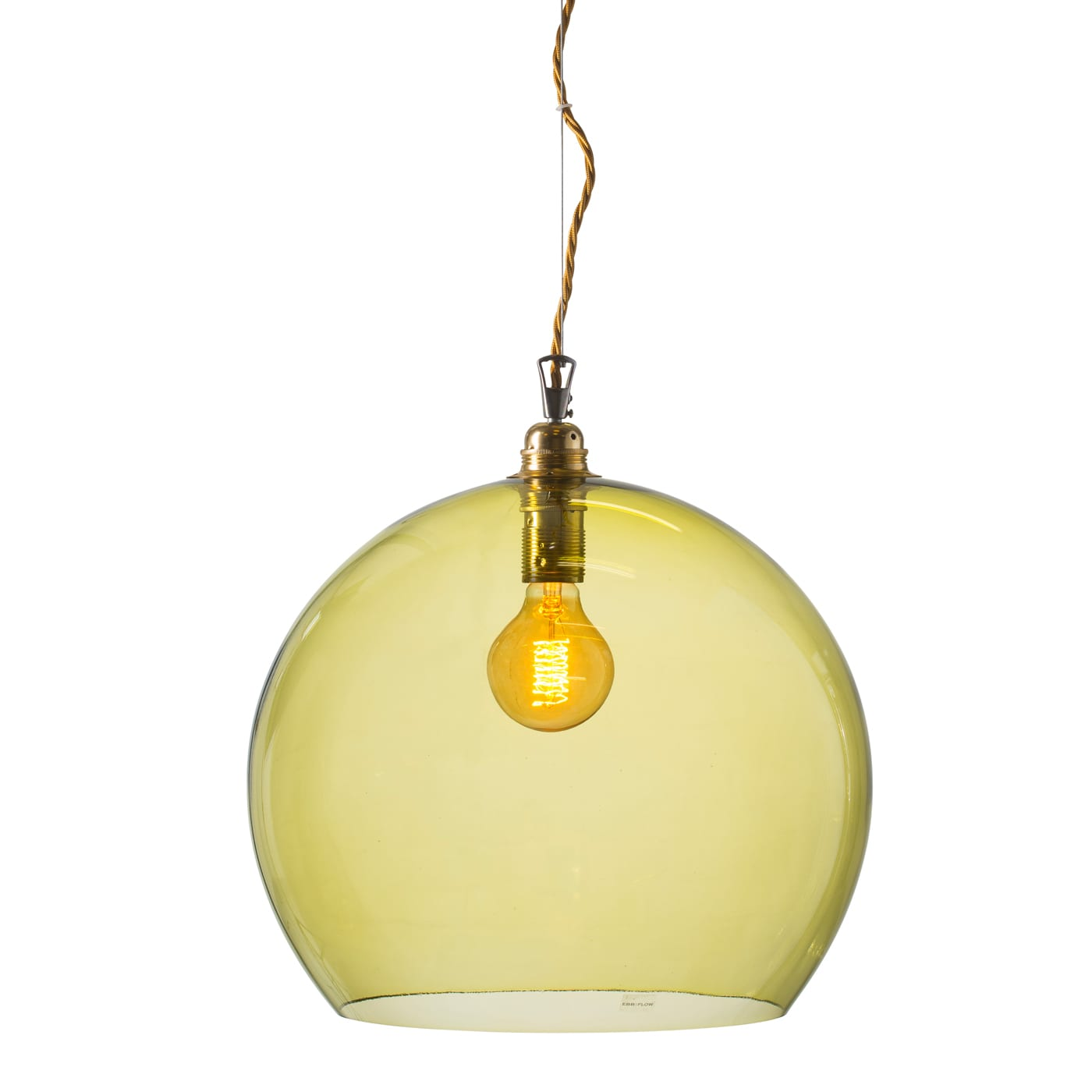 Rowan pendant lamp, olive, 39cm