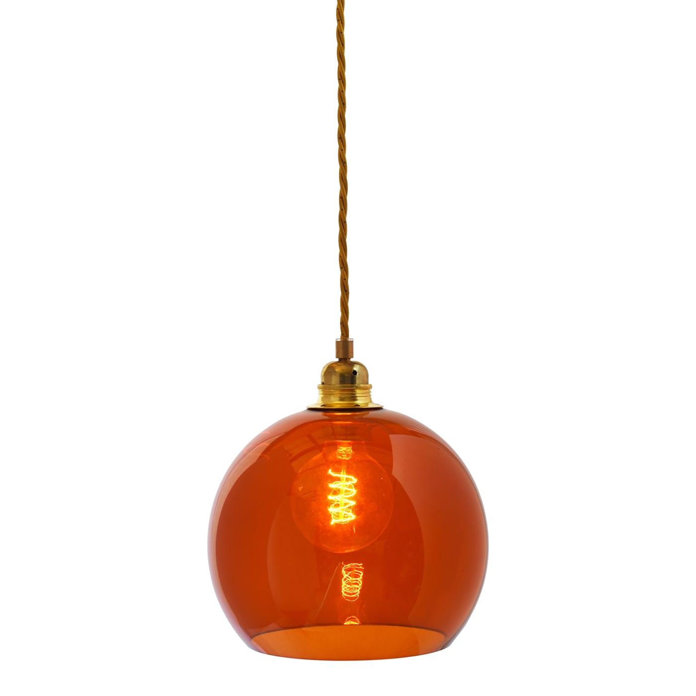Rowan pendant lamp, rust, 22cm