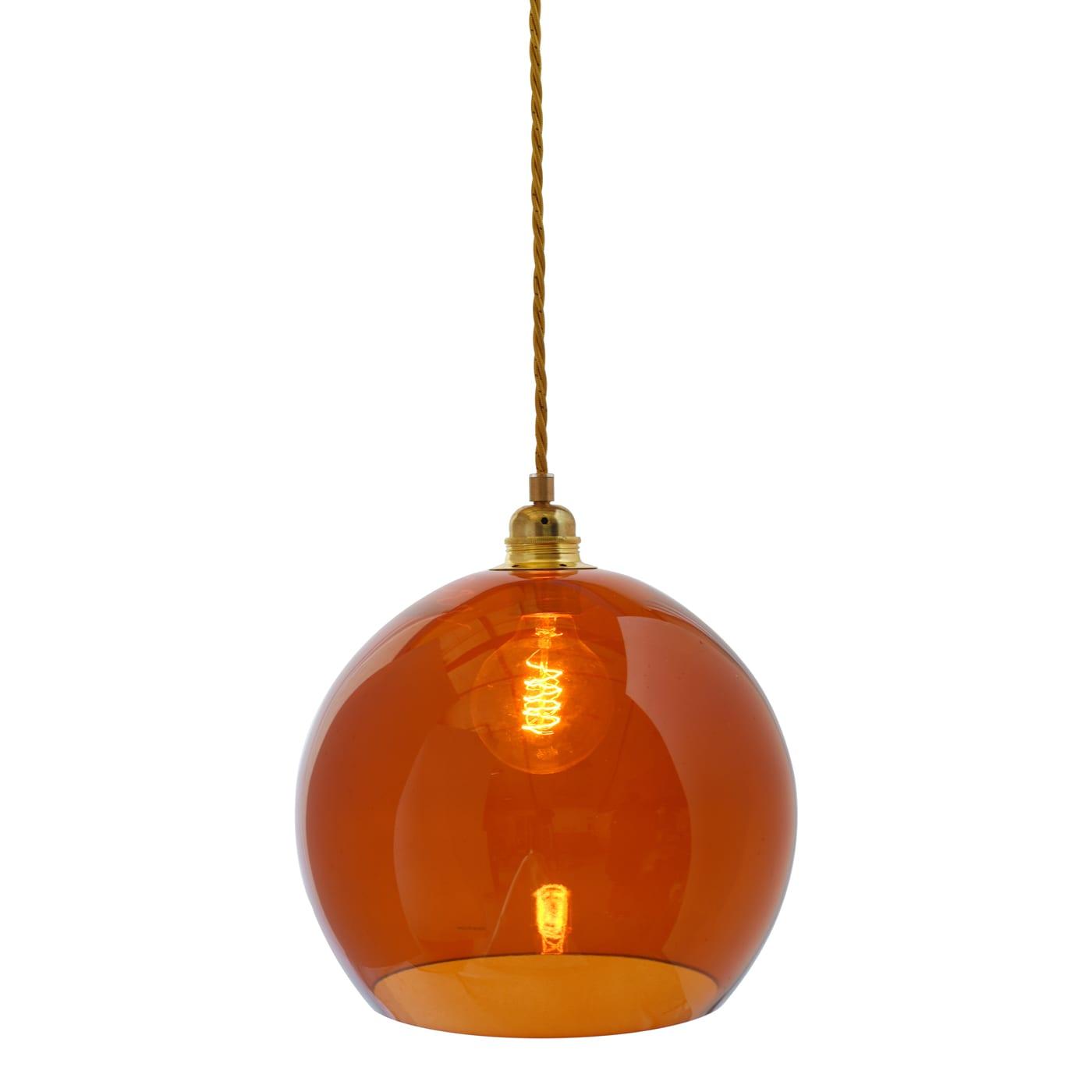 Rowan pendant lamp, rust, 28cm