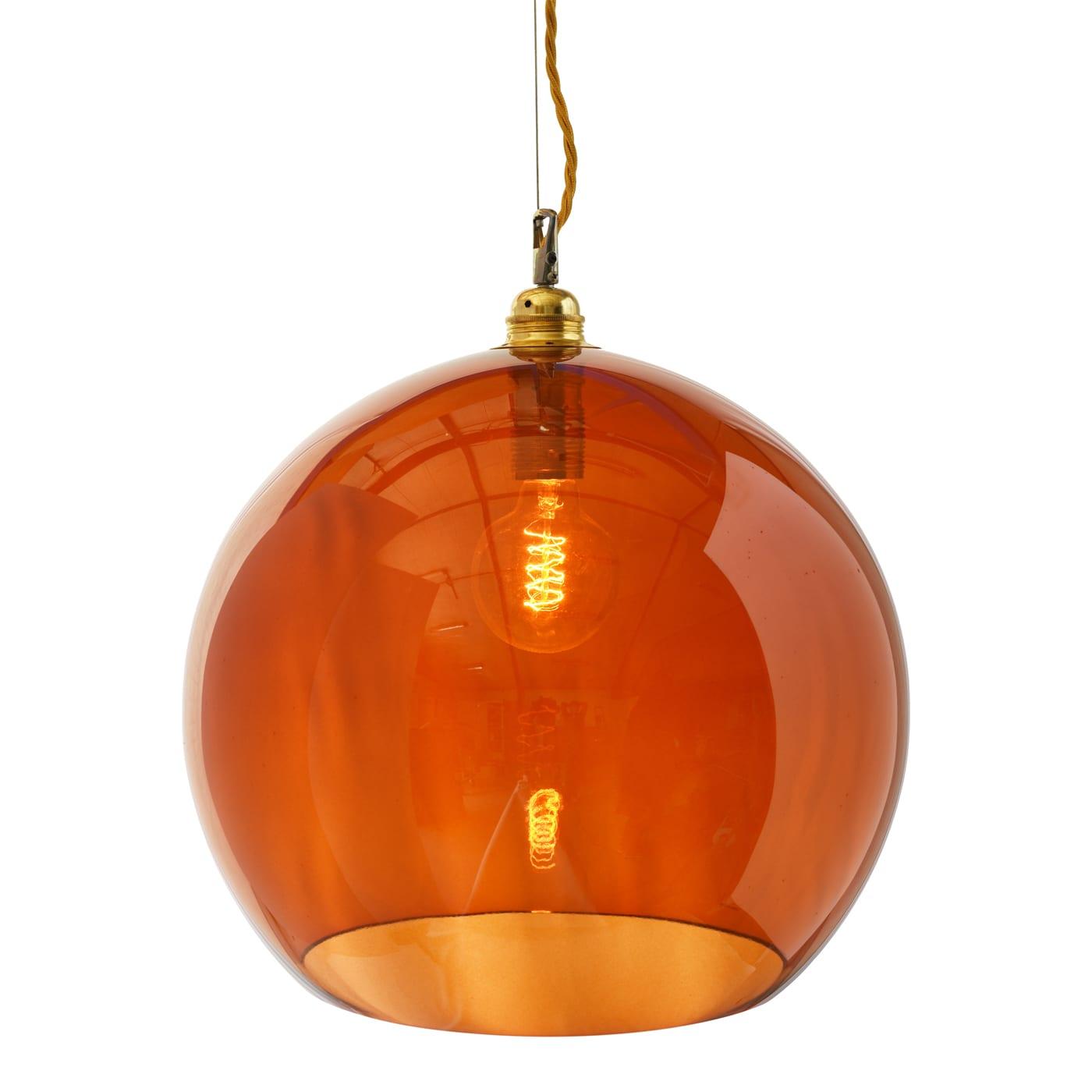 Rowan pendant lamp, rust, 39cm 1