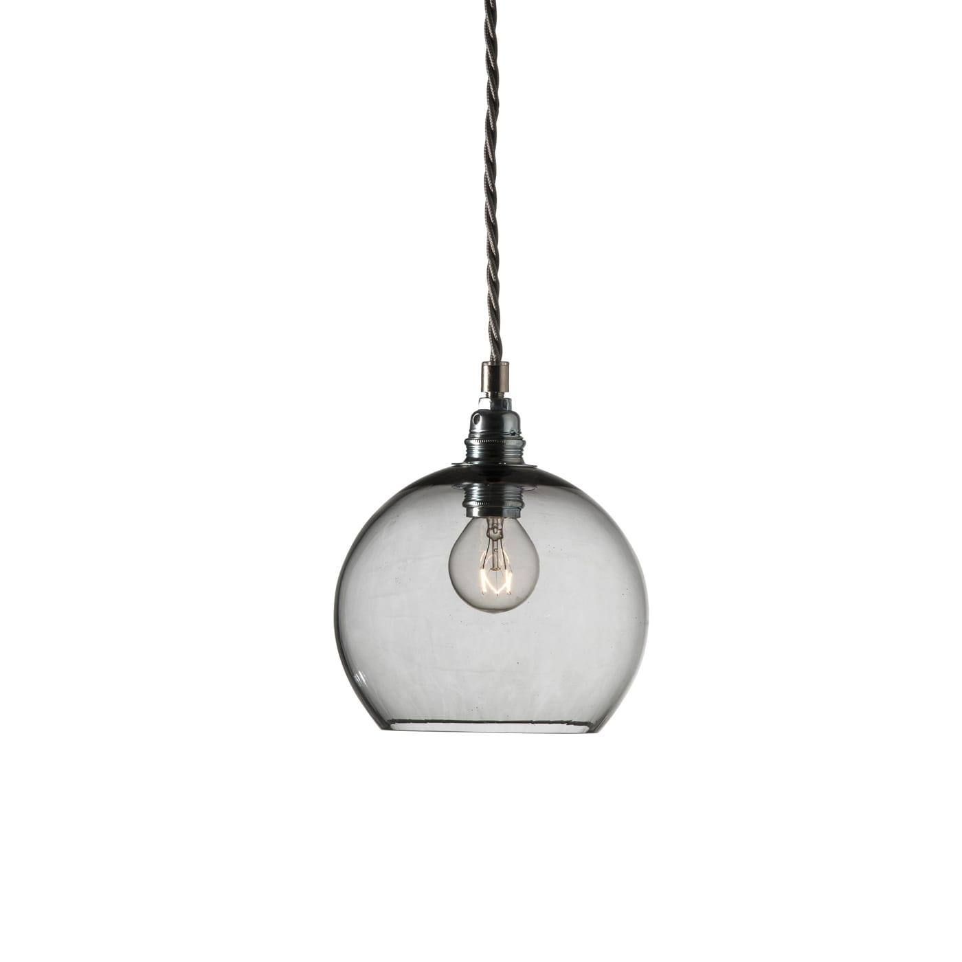 Rowan pendant lamp, smokey grey, 15cm