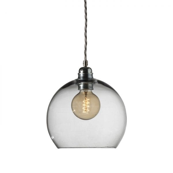 Rowan pendant lamp, smokey grey, 22cm
