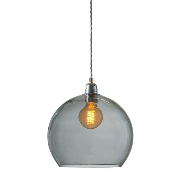 Rowan pendant lamp, smokey grey, 28cm 1