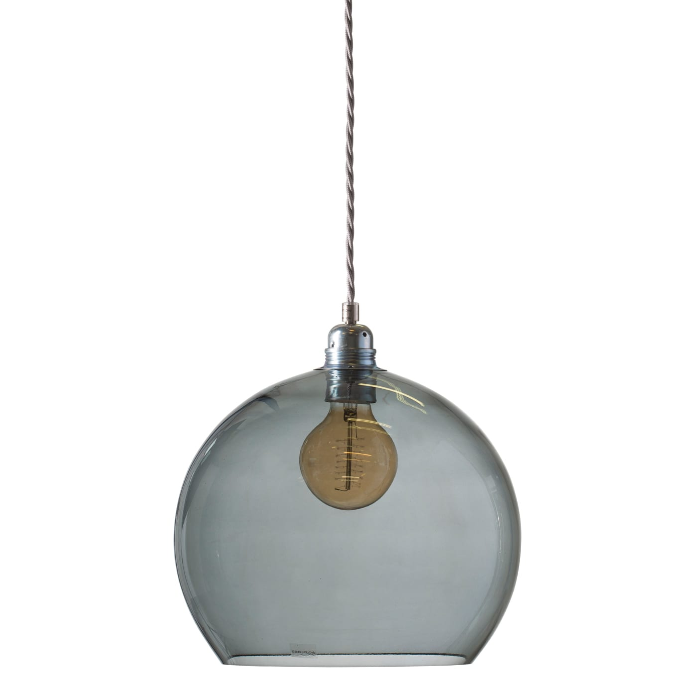 Rowan pendant lamp, smokey grey, 28cm