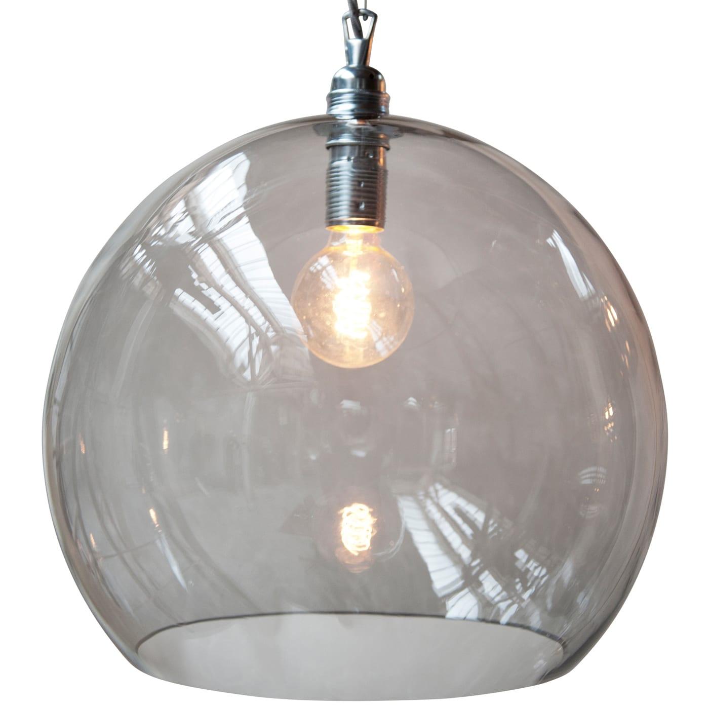 Rowan pendant lamp, smokey grey, 39cm