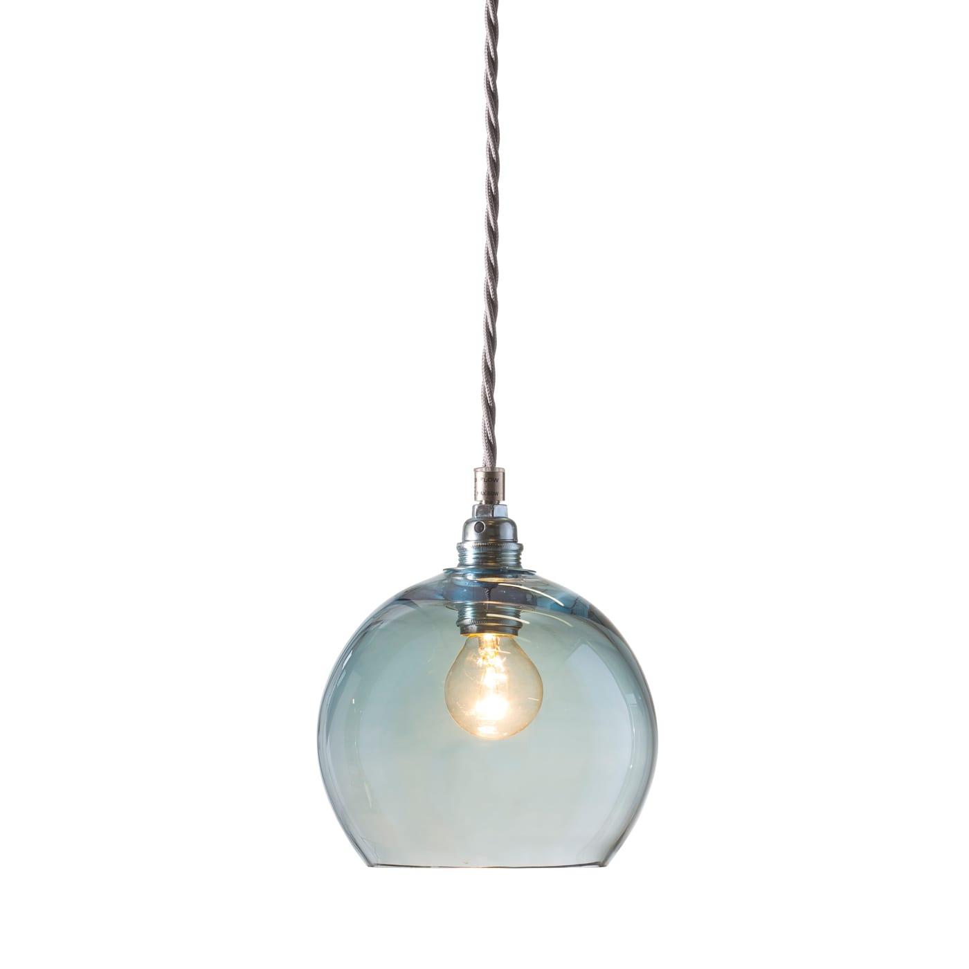 Rowan pendant lamp, topaz blue, 15cm 1