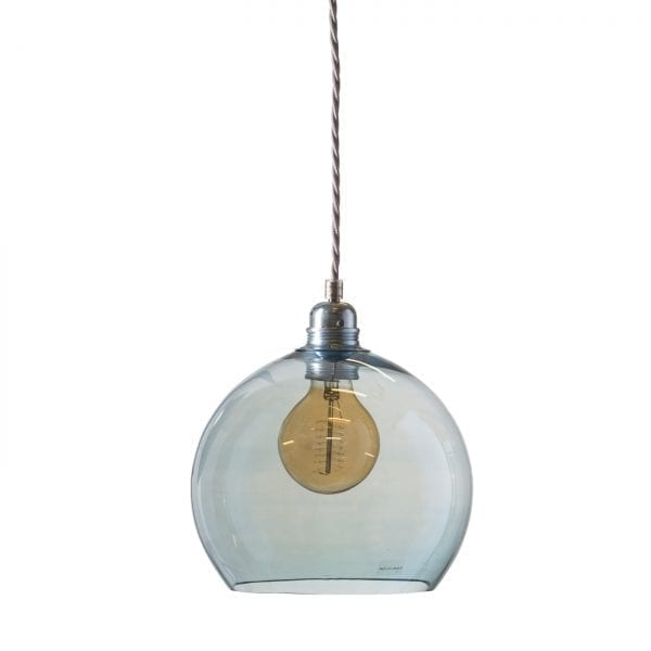 Rowan pendant lamp, topaz blue, 22cm 1