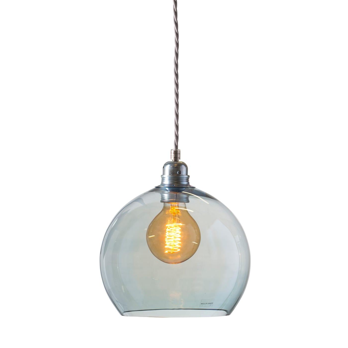 Rowan pendant lamp, topaz blue, 22cm