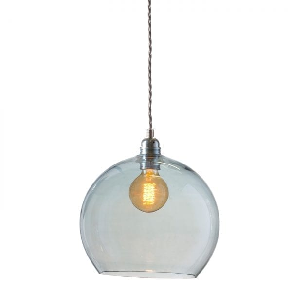 Rowan pendant lamp, topaz blue, 28cm 1