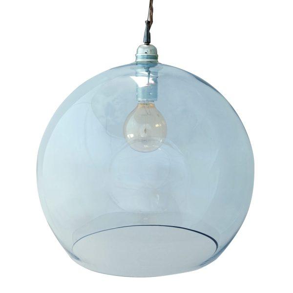 Rowan pendant lamp, topaz blue, 39cm