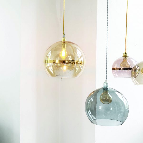 Rowan Pendant Lamp 28cm Stripe