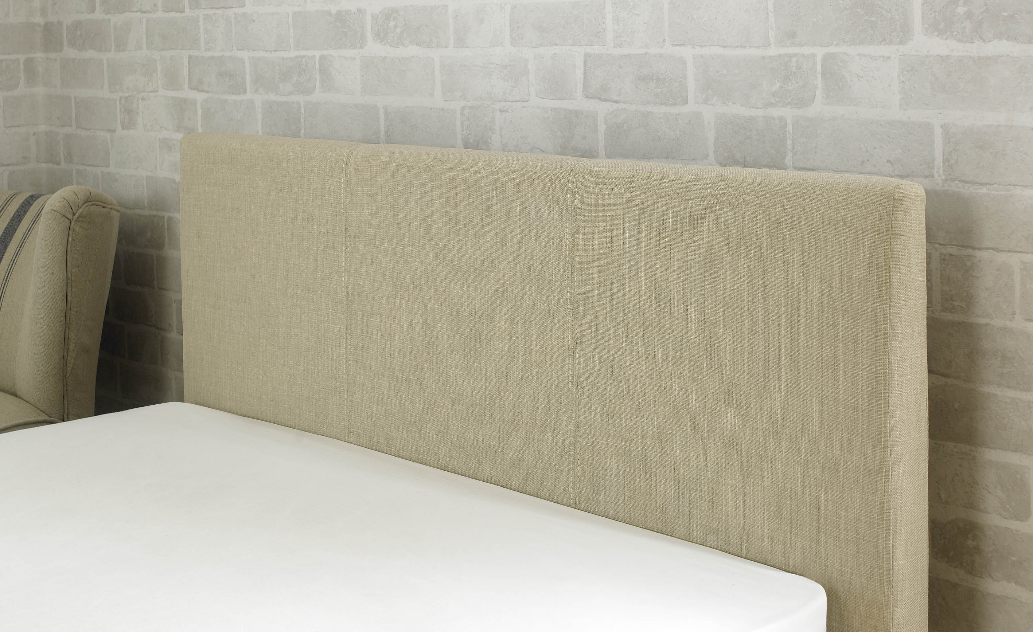 Stirling Fabric Ottoman Bed Biscuit