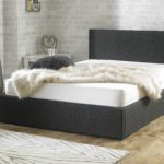 Stirling Fabric Ottoman Bed Charcoal