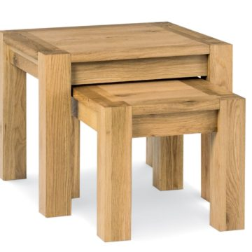 Lyon Oak Nest of Lamp Tables